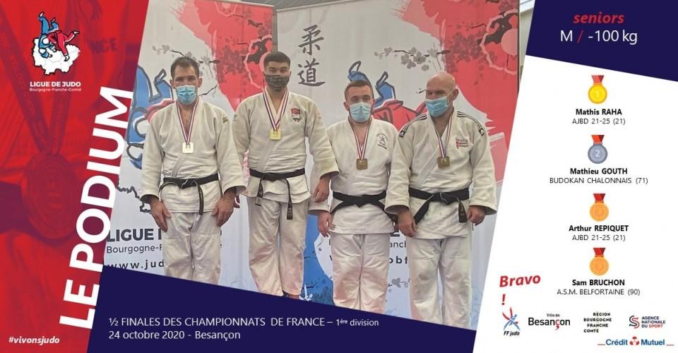 Arthur REPIQUET 3ème  aux 1/2 Finales Séniors Besançon Oct 2020